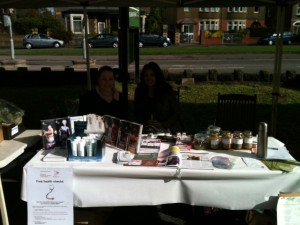 Whitchurch Farmers' market stall