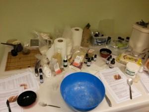 Natural cosmetics workshop